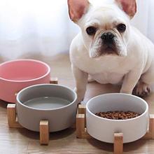 Миски для собак и кошек, дорожный Фидер для кормления, миска для воды для домашних собак и котов, для щенков, тарелка для еды на открытом воздухе, керамическая миска