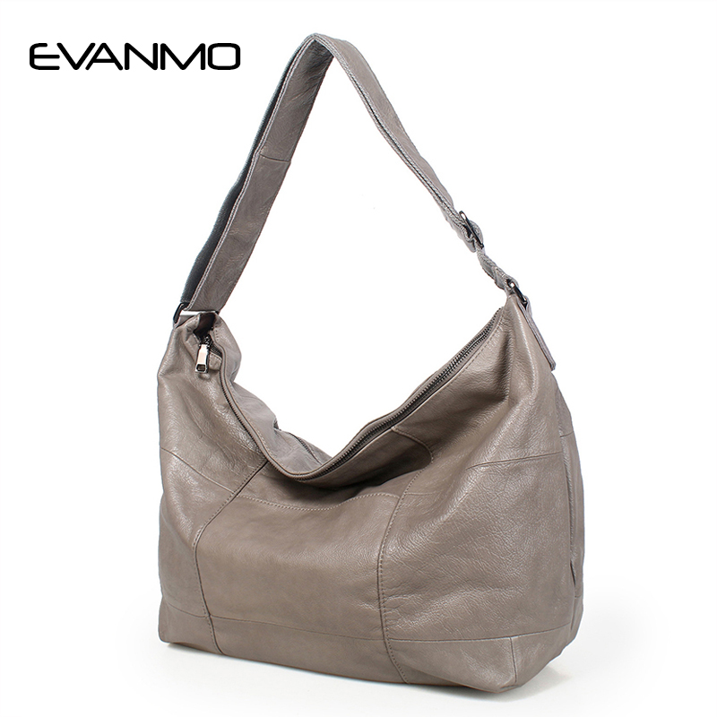 Luxury High Quality Hobo Bag Female Genuine Leather Designer Shoulder Bag Causal Women Bags Female Leather Shoulder Bags E недорого
