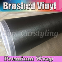 Dark Grey Brushed Steel VINYL For Car Wrap With Air bubble free / METALLIC Gunmetal CAR STYLING COVERING 1.52x30m/roll 5x98ft