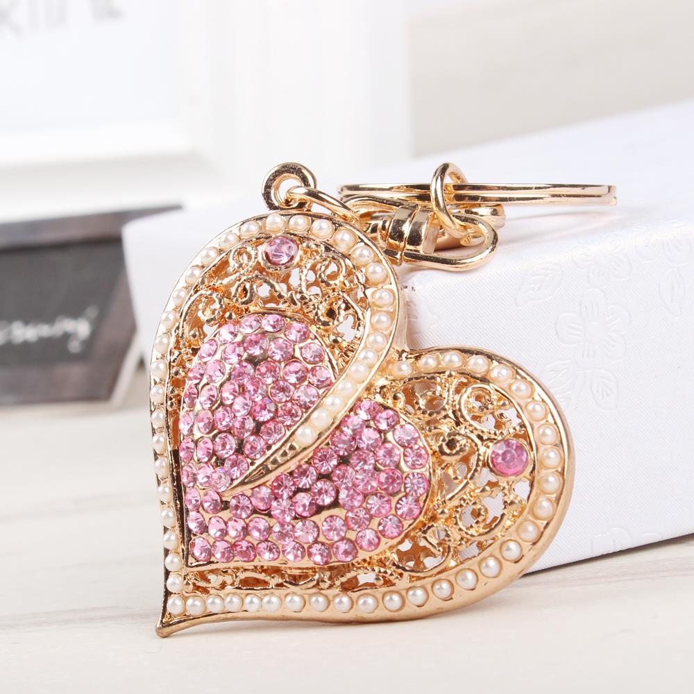 Purse Jewelry: New Fashion Sweet Heart Pearls Crystal Charm Pendant Purse