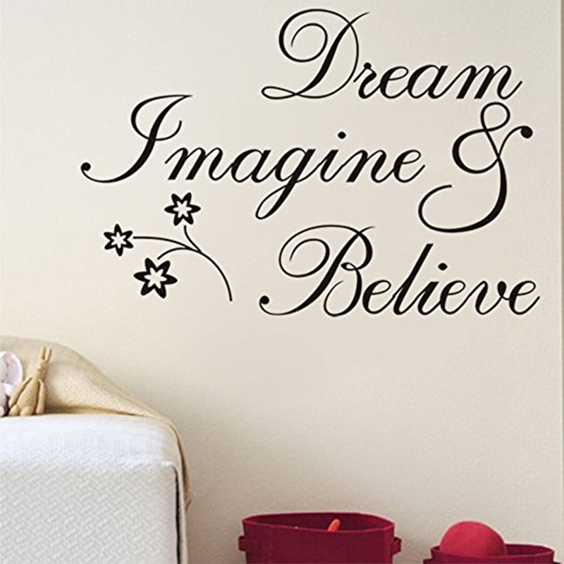 Hope It Dreams Of Its Inspiring Quote Home Decal Mural Wall Sticker GB