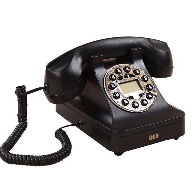 Старинные антикварные ретро-проигрыватели стационарные телефоны Континентальный античный телефон с дисковым набором номера личности