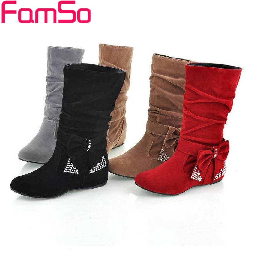 Plus Size34 43 2016 New Sexy Spring Autumn Knee Boots Lady Casual Shoes Rhinestone Boots Winter