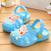 2017 summer time slippers type Brand youngsters's sandals four shade boys ladies seaside slippers youngsters sneakers sandal