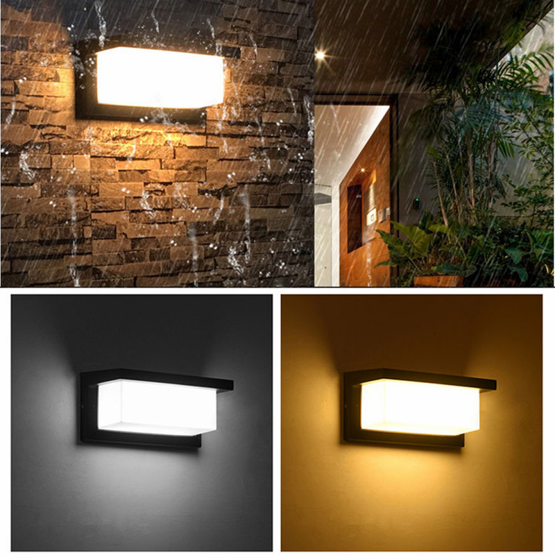 Outdoors Waterproof Motion Sensor Home Use Simple Decorations LED Light Outdoors Porch Modern Courtyard Garden Rectangle