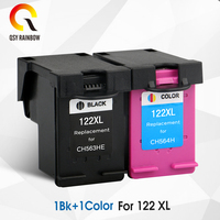 CMYK SUPPLIES 122XL Refilled Ink Cartridge Replacement for HP 122 for Deskjet 1000 1050 2000 2050s 3000 3050A 3052A 3054 1010