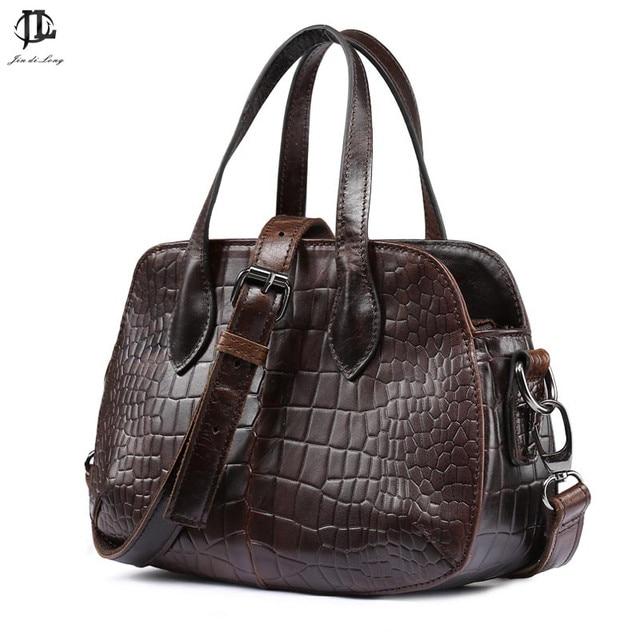 2016 new arrival shell shape Crocodile bag fashion retro design chain cow leahter unisex genuine leather handbag/shoulder bag