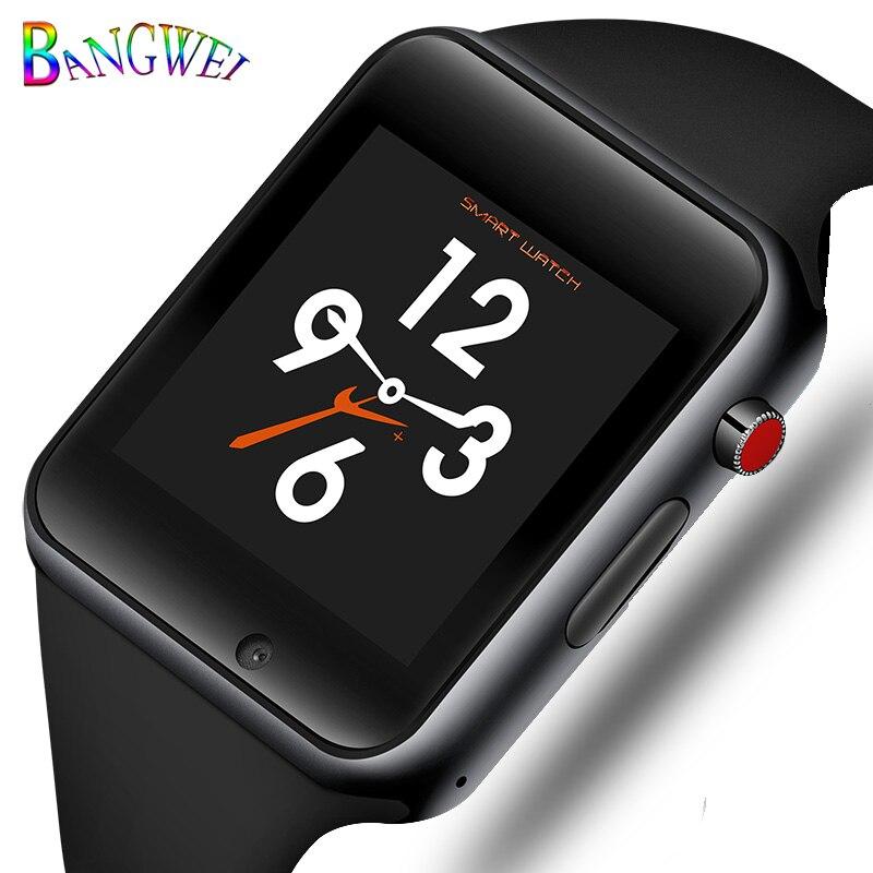 2018 Bluetooth Intelligente Della Vigilanza di Sport Pedometro Smartwatch con la Macchina Fotografica Carta di Sostegno SIM Whatsapp Facebook per iPhone Android Phone