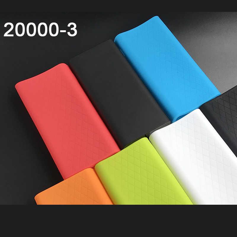 سيليكون حامي حالة الغطاء الجلد شل ل Xiaomi 20000mAh قوة البنك 3 PLM07ZM تجدد Powerbank YDDYP01