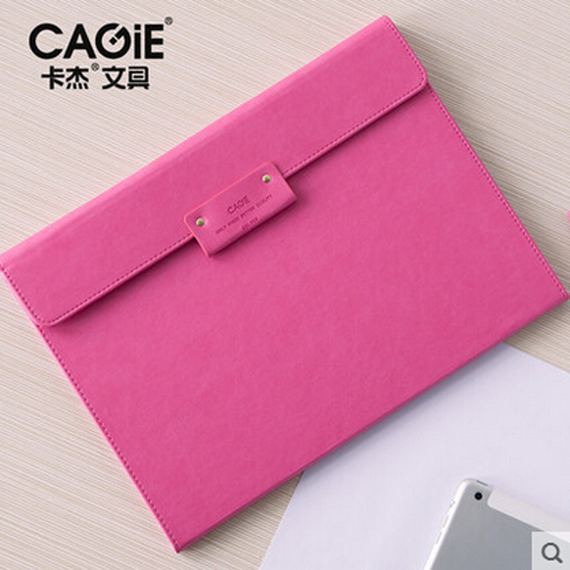 CAGIE Creative File Clipboard Padfolio A4 Record File Folder Fashion Receive Folder Daily Memos Manager Folder