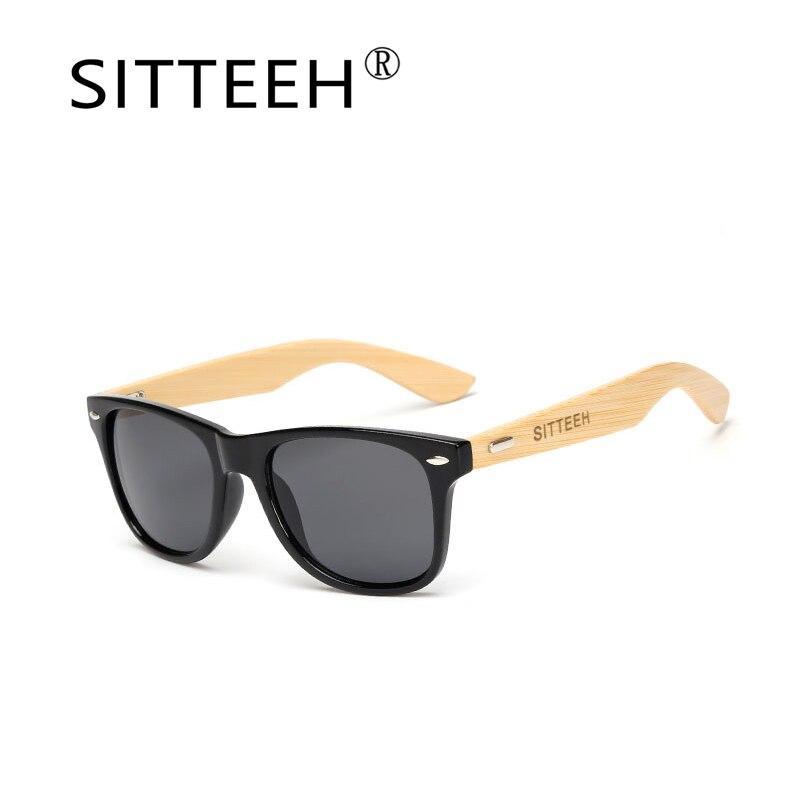 a0491a7332973 SITTEEH madeira lente Dos Óculos De Sol 2018 clássicos óculos de sol para  mulheres dos homens