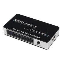 Новый hdmi-переключатель 5×1 4 К x 2 К Переключатель HDMI 5 в 1 из 5 порт HDMI конвертер Поддержка 1080 P 3D ИК пульт дистанционного управления для телевизора