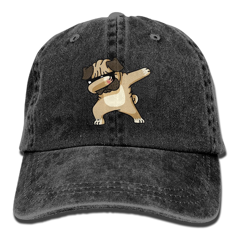 d597396ba0d Detail Feedback Questions about Men Women Hip Hop Dabbing Pug Funny  Adjustable Vintage Washed Denim Cotton Dad Hat Baseball Caps Natural on  Aliexpress.com ...