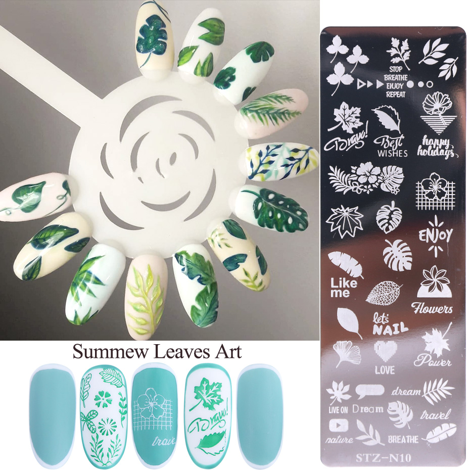 New Nail Stamping Plates Stencils Manicure Templates Flowers Lace Geometric Designs Nail Art Polish Tools