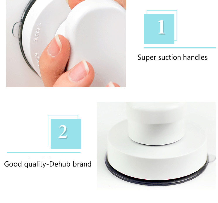 Pull Push Super Suction Drawer Handle Safety Grip Rail Anti Slip Grip Rail Bathroom Accessories Safety Grip Handle 2pc per lot in Shower Curtain Poles from Home Garden