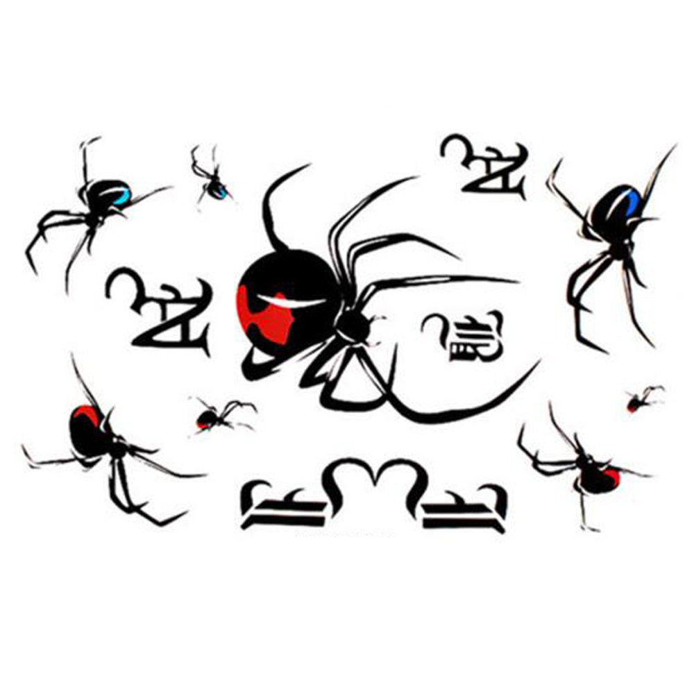 Yeeech Temporary Tattoos Sticker for Women Fake 3d Spider Designs Sexy Arm Leg Back Neck Body Art Makeup Long Lasting Waterproof
