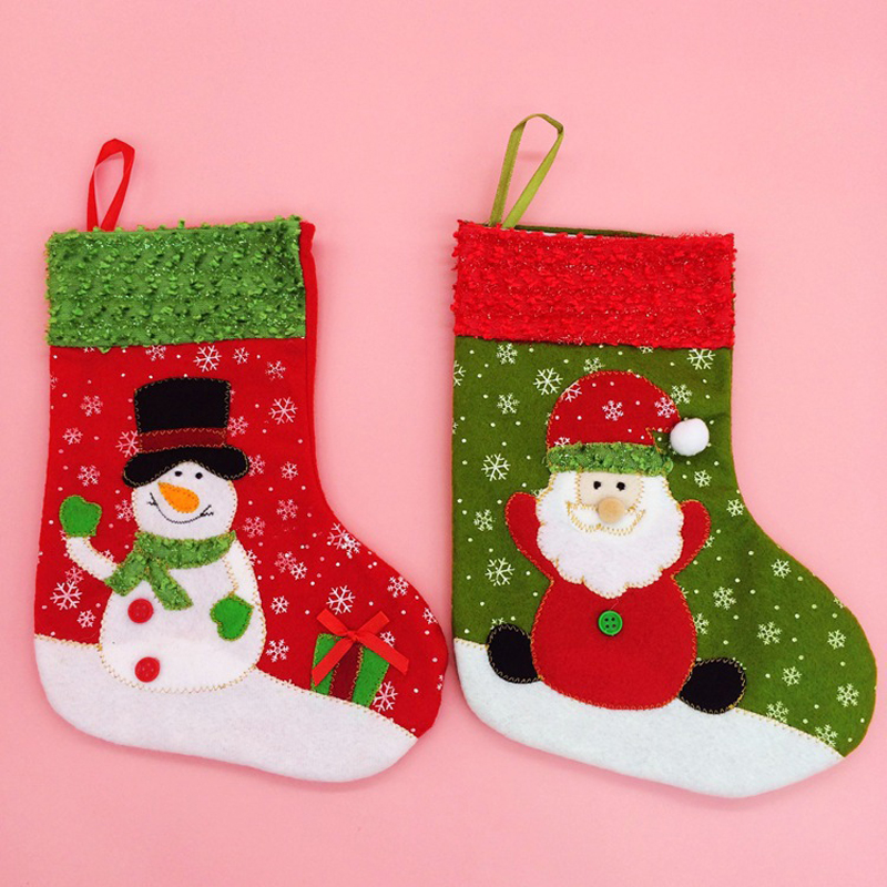 Creative Christmas Stockings Santa Claus Snowman Gift Bags Home Party Decoration Gift Bag Christmas Supplie