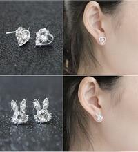 WLP brand jewelry star moon bow Earring 2017 Fashion Brand Rhinestone Stud Earrings Women Alloy crystal Studs Earring For Women