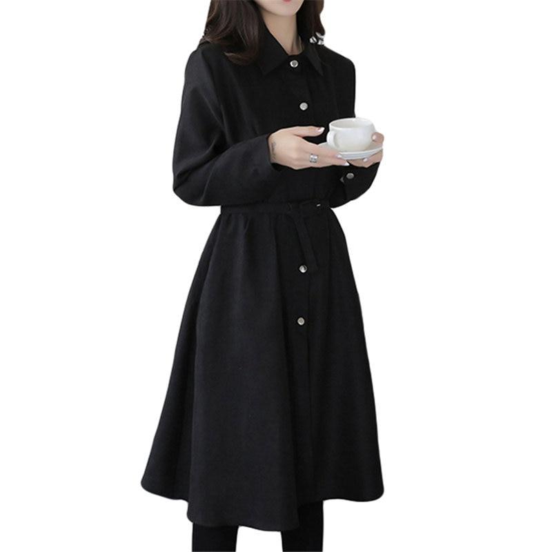 Mode nouvelle automne hiver robe femmes élégant Sexy Slim noir mince section robe Vintage à manches longues robes robes mujer