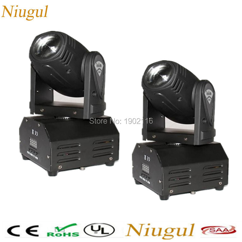 2pcs/lot 10W LED Moving Head Light RGBW Mini Moving Beam for DJ Party Nightclub Lives 4in1 DMX512 LED beam effect stage lighting niugul dmx stage light mini 10w led spot moving head light led patterns lamp dj disco lighting 10w led gobo lights chandelier