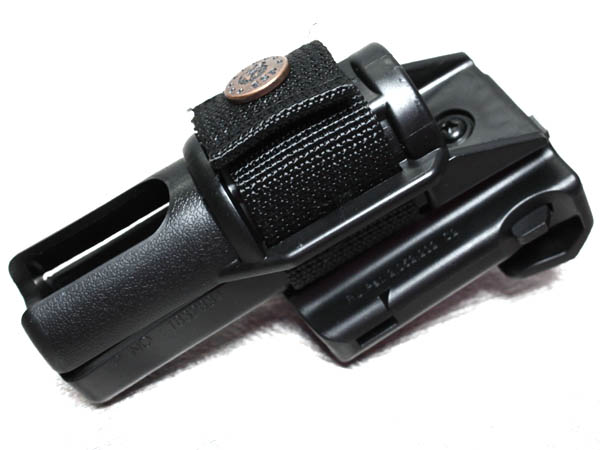Tactical ASP holster / bar mount leather truncheons (small)