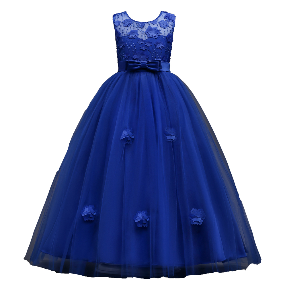 Glitz Royal Blue Red Princess Children Flower Girl Dresses for Weddings Kid Girls Party  ...