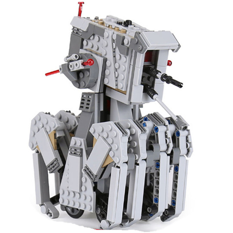 The First Order Scout Walker 620Pcs Legoing Star Wars Blocks Toys for Children Compatible with Legoingly Starwars 75177 for Gift