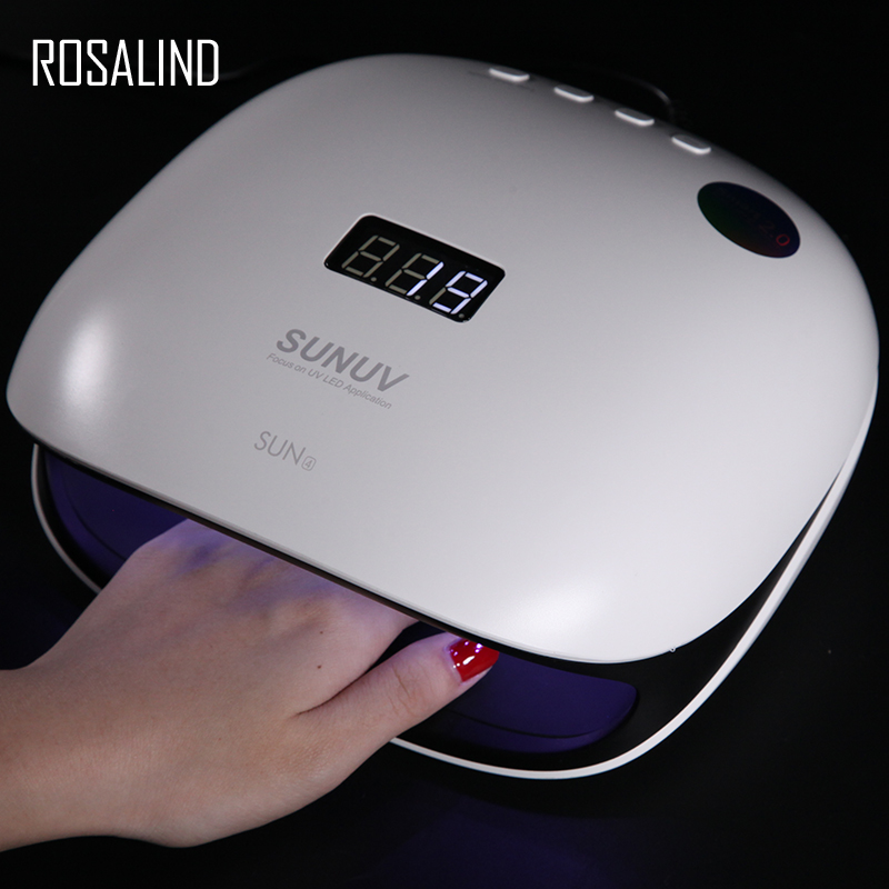 ROSALIND Nail Dryer 48W Smart Manicure Machine For All Gel Varnishes SUN4 UV LED Lamp Soak off Gel Machine Lamp Nail Dryer ToolROSALIND Nail Dryer 48W Smart Manicure Machine For All Gel Varnishes SUN4 UV LED Lamp Soak off Gel Machine Lamp Nail Dryer Tool