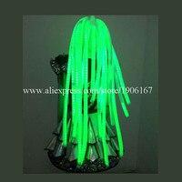 3 цвета светодиодный свет волосы светящиеся Косплей парики Хэллоуин Рождественское украшение для волос вечерние для танцев бар DJ клуб Бесп