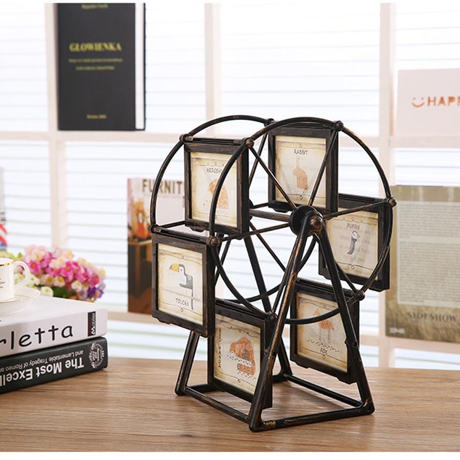 ФОТО High - quality resin PVC 5-inch photo frame creative home Ferris wheel windmill photo frames of gifts