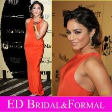 Vanessa Hudgens Kleid Promi Orange Abend Prom Formal Pageant Kleid Frauen in Film Party