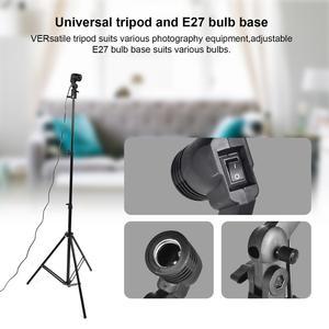 Image 4 - Zuochen 2 × 135w estúdio de fotografia guarda chuvas kit iluminação branco preto verde cinza pano de fundo luz suporte + kit refletor