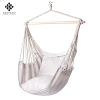 Outdoor indoor rope swing white cotton hammock chair camping hammock Straps & Belts Single person hanging chair