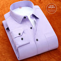 Top camisas de los nuevos hombres de negocios blusa Delgado warm winter plus los hombres de terciopelo grueso camisa de manga larga camisa masculina de Gran tamaño S-3XL