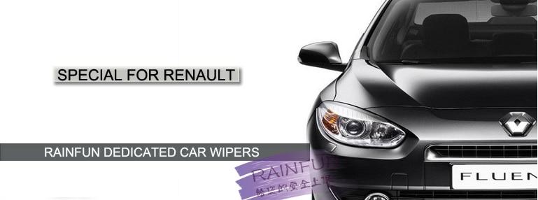 """RAINFUN S580 2""""+ 26"""" R специализированная Автомобильная щетка стеклоочистителя для Renault Modus, автомобильный очиститель из натурального каучука, автомобильная мягкая щетка стеклоочистителя"""