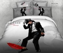 3D Michael Jackson bedding comforter set for queen size duvet cover bedspread bed in a bag sheet bedroom quilt linen 100% cotton