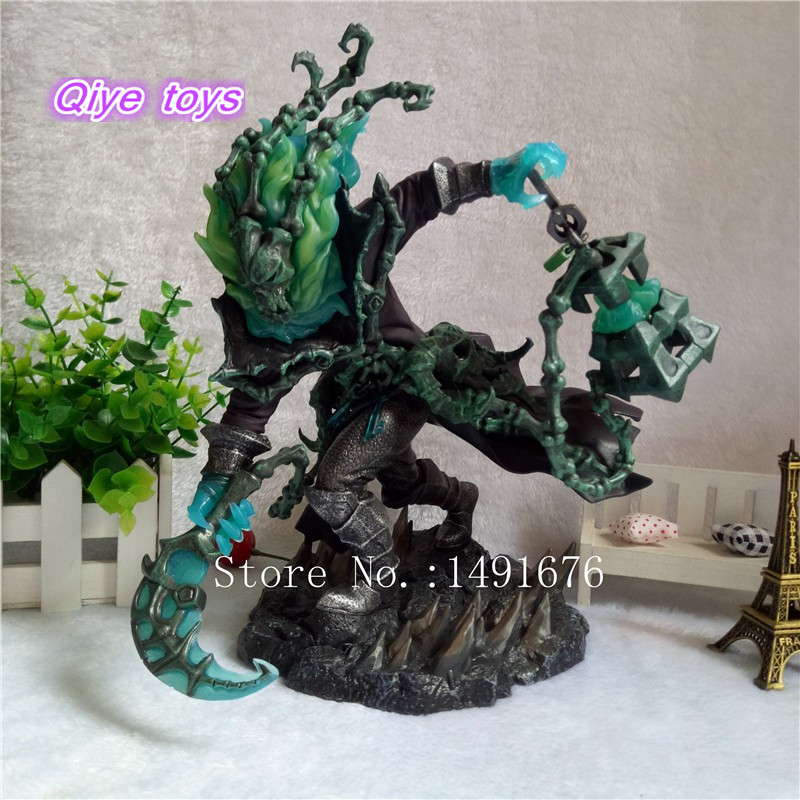 Hot Game Figure Chain Warden Thresh Gank 25 CM PVC Action Figure Juguetes Figuras Anime Brinquedos Model Doll Kids Toys Gift