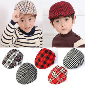 Cute !! Lattice series Design England Style Children Fashion Cap Summer Berets Baby Hat Boy Caps For Child Girl Berets Kids Hats