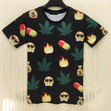 FAAJ 5 x (emoji t shirt hot style emoticons tshirt summer funny clothes men top t-shirt XXL(emoji 17)