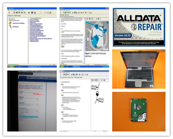 auto software repair alldata 10.53 and mitchell on demand 2in1 installed in d630 laptop hdd 1tb for car and truck diagnostic