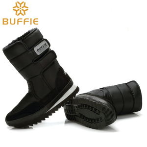 Image 5 - Men shoes Winter Boots Shoe Solid Black Snow Boots Plus size 36 to Big 47 Brand style warm male booties free shipping best sell