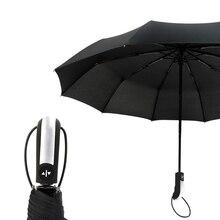 Large Strong Frame 10 Ribs Umbrella Men Auto Luxury Windproof Umbrellas Rain Women Quality Brand Automatic Business