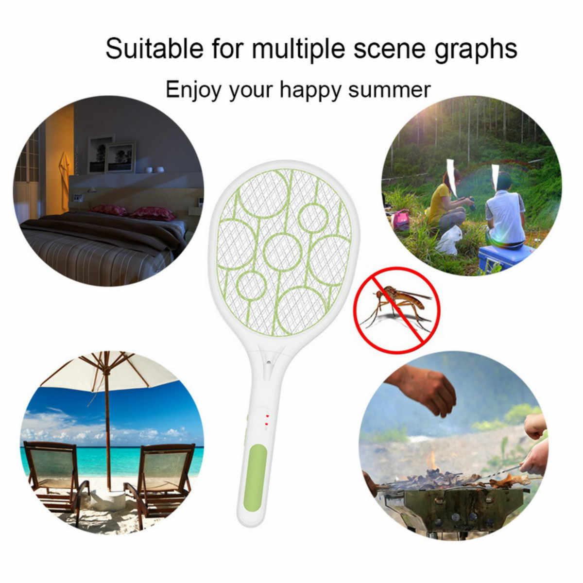Packa na komary zabójca USB akumulator elektryczne doprowadziły światła rakieta do tenisa rakieta tenisowa ręczna rakieta owad mucha Bug osa