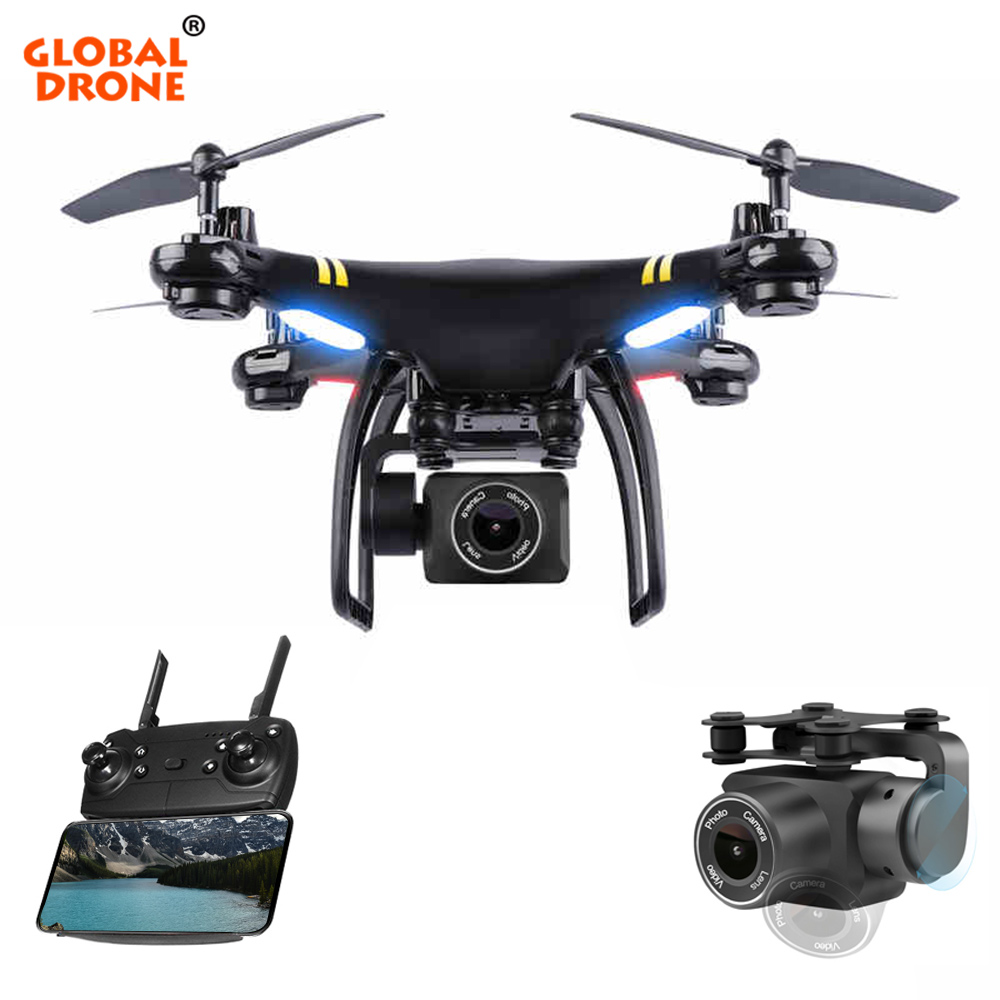 """הגלובלי Drone Profissional GPS מל """"טים עם מצלמה HD RC מסוק Wifi זמן אמת FPV Quadcopter אחיזת גובה ארוך זמן עף"""