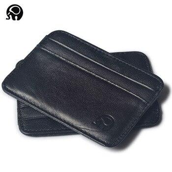 Men Wallet Business Card Holder bank holder Leather sheepskin Package Bus Slim Multi-card-bit Pack Bags