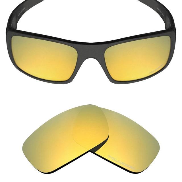 250f96c055 Mryok+ POLARIZED Resist SeaWater Replacement Lenses for Oakley Crankshaft  Sunglasses 24K Gold