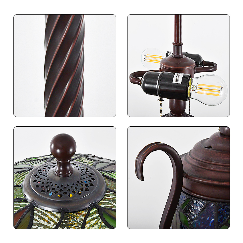 European Classical Floor Lamps 168cm Vertical Art decoration light Living Room Bedroom Study Floor Light Retro Creative TF175 in Floor Lamps from Lights Lighting