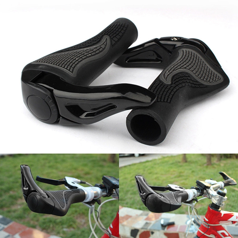 Cycling Mountain Bike Bicycle Handlebar Handle Bar Grips End LOCK-ON Ergonomic