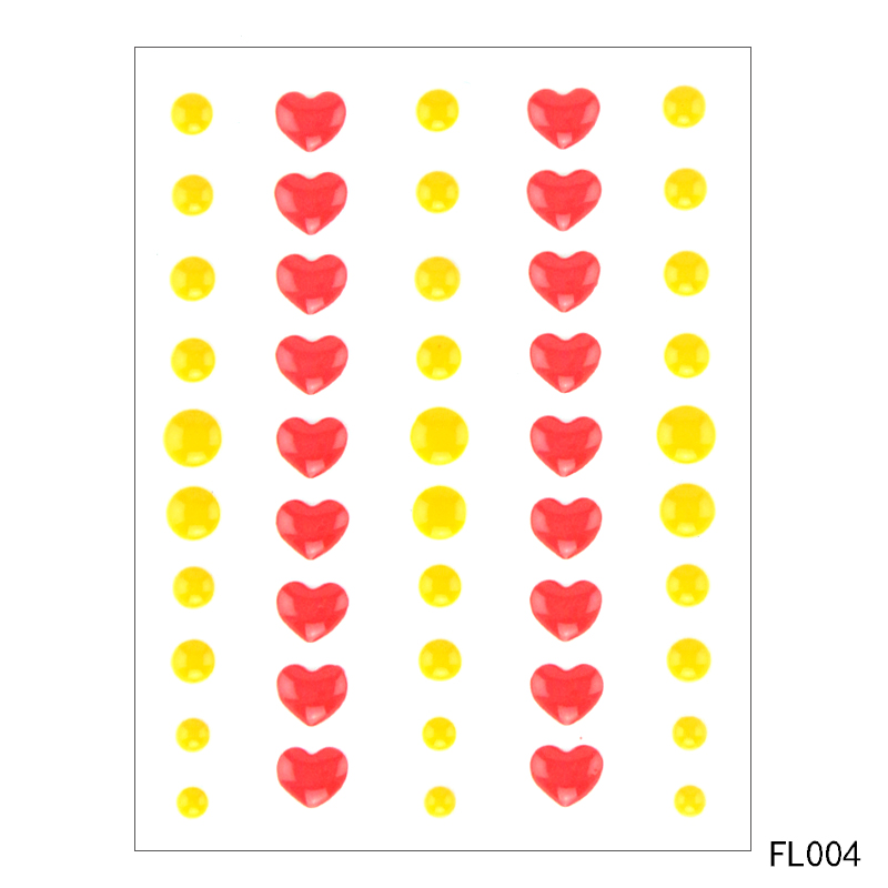 Colorful heart shaped Star style Self adhesive Enamel Dots Resin Sticker for Scrapbooking DIY Crafts card Making Decoration in Tools from Home Garden