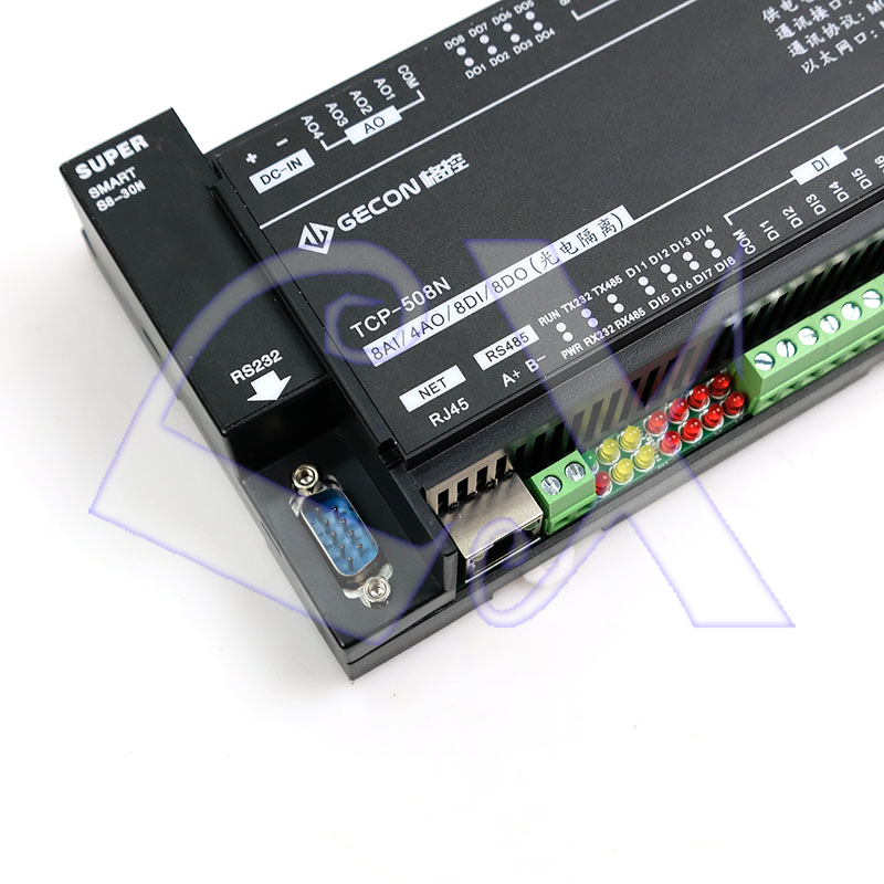 Image 5 - 8AI Analog Input 4AO Analog Output 8DI Switch Input 8DO Relay Ethernet IO Module RS485 RS232 MODBUS TCP&RTU-in Connectors from Lights & Lighting